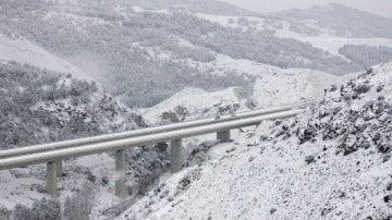 La A3 cubierta de Nieve