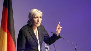 Marine Le Pen, en una cumbre eurófoba en Alemania