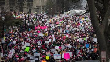 Marcha de mujeres contra Trump en Washington