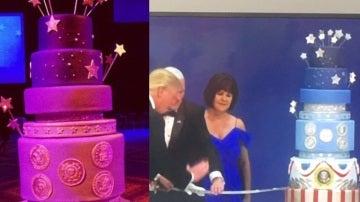 Comparativa de la tarta de la toma de posesión de Obama y la de Trump