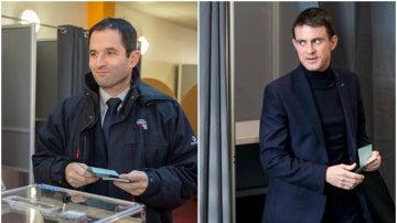 Benoit Hamons y Manuel Valls