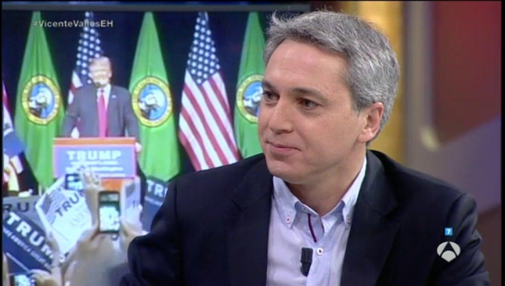 """Frame 126.075555 de: Vicente Vallés: """"Tengo la impresión de que EEUU está partido por la mitad"""""""
