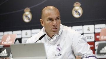 Zidane, en rueda de prensa