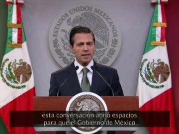 """Frame 16.605048 de: Peña Nieto reconoce que tras la conversación con Trump de la semana pasada no han llegado a """"acuerdos en ninguna materia"""""""