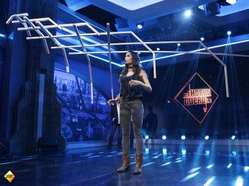Pilar Rubio se convierte en equilibrista para superar un nuevo reto