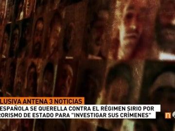 Frame 73.453929 de: Una española presenta una querella por torturas y ejecuciones masivas en Siria