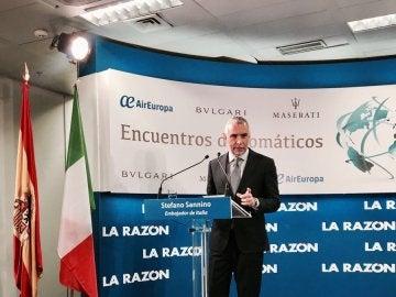 El embajador de Italia en España, Stefano Sannino