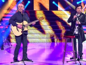 Juan Muñoz supera su reto interpretando a Serrat y Sabina