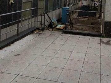 Vista del patio interior del Hospital Universitario de La Paz