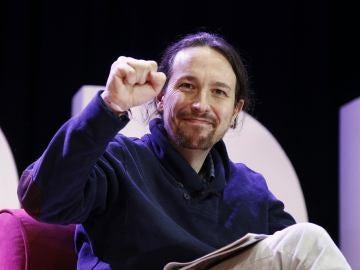 Pablo Iglesias, líder de Podemos, durante un evento en Barcelona