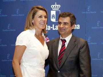 Rogelio Pardo junto a María Dolores de Cospedal