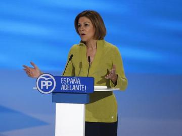 Cospedal llama a recuperar para el PP la unidad del centro-derecha español