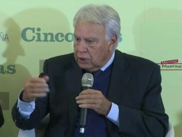 Frame 11.755838 de: Felipe González: mienten quienes dicen que las pensiones están garantizadas