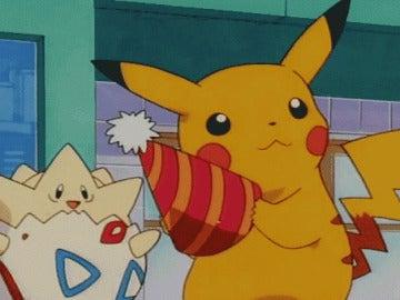 Pikachu con su gorro festivo