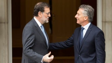 Mariano Rajoy  y Mauricio Macri en el Palacio de la Moncloa
