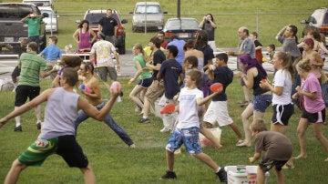 Batalla campal de globos de agua