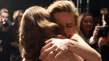 Brie Larson llora desconsolada tras ganar Emma Stone el Oscar