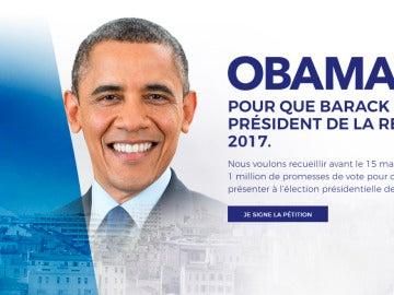 Piden la candidatura de Obama a las elecciones francesas