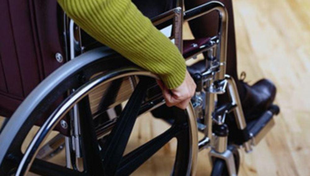 Silla de ruedas de un discapacitado