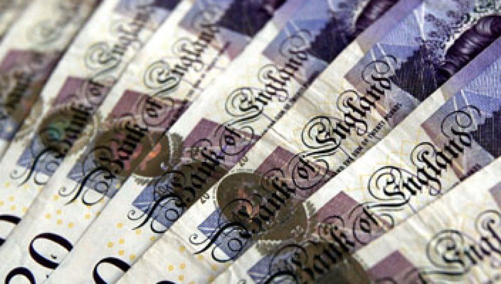 Billetes de veinte libras del Banco de Inglaterra