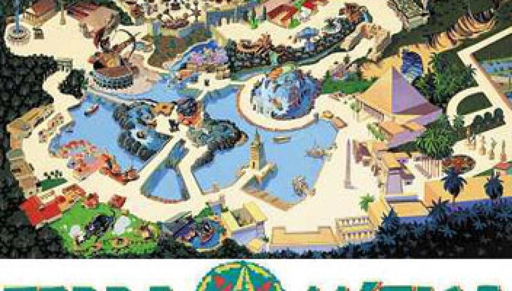 El parque de atracciones Terra Mítica
