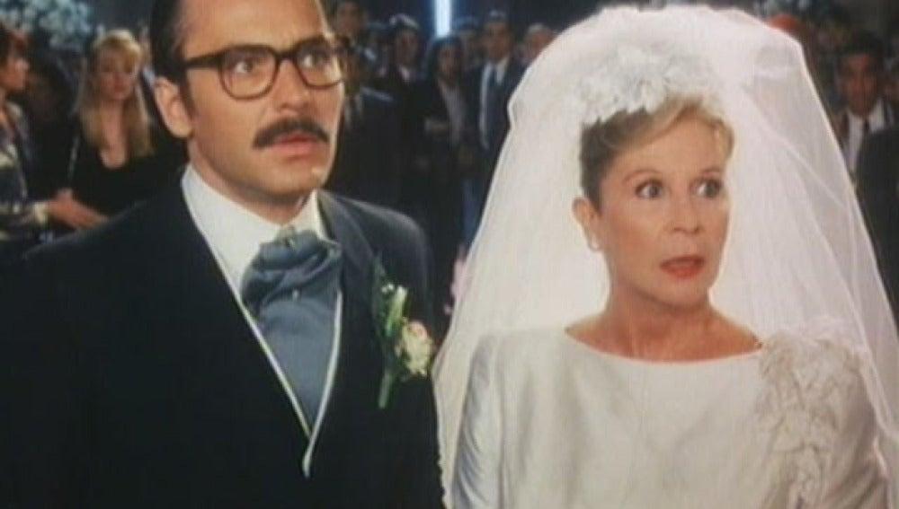 La boda de Lina Morgan y José Coronado