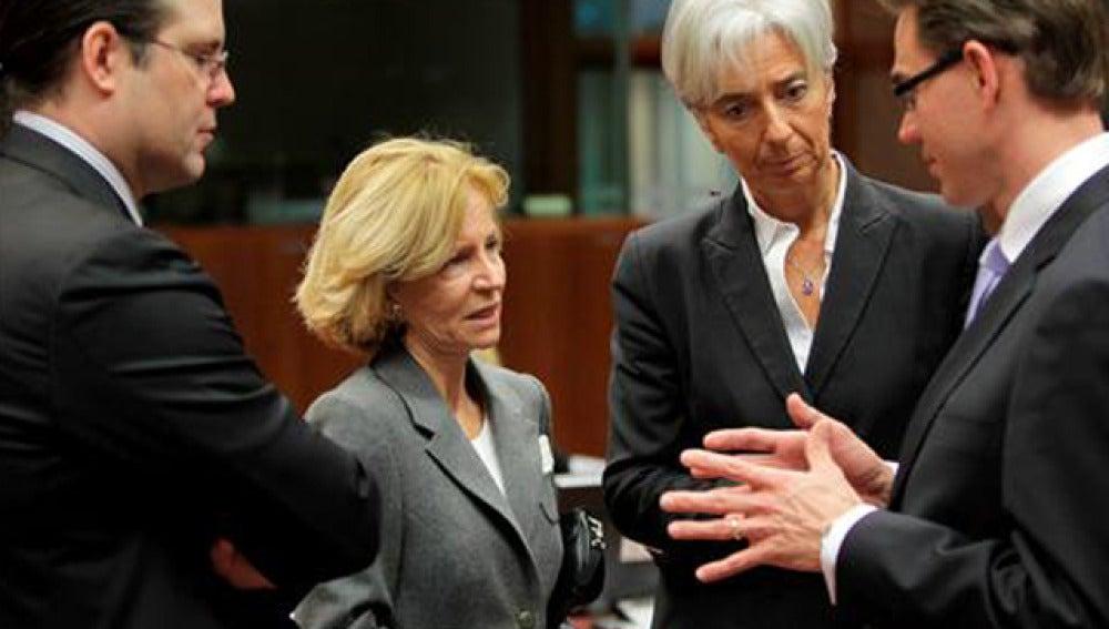 Salgado, durante la reunión del Ecofin