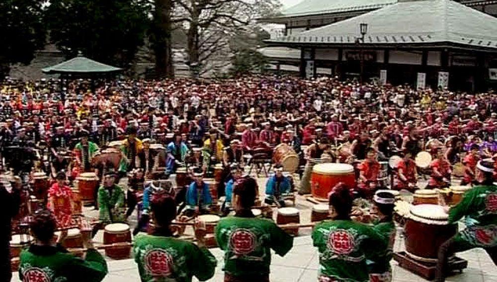 El taiko, arte y percusión japonesa