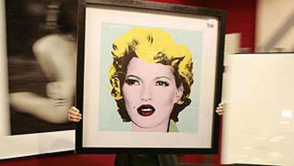 Kate Moss pintada por Banksy
