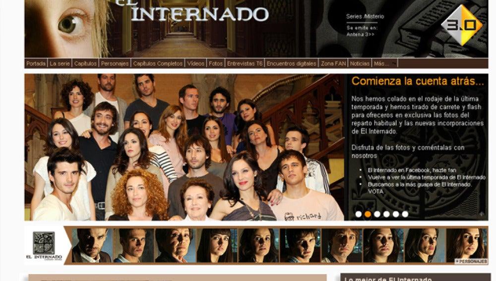 La web de El Internado, una referencia a nivel internacional