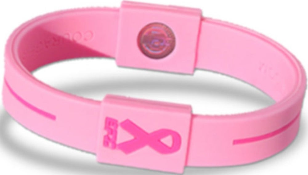 Falsas pulseras solidarias con el cáncer