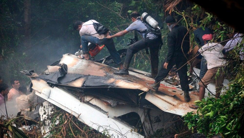 Accidente aéreo en la India
