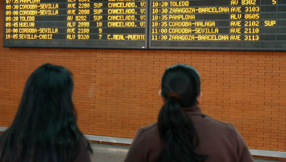 Huelga de trenes de 24 horas