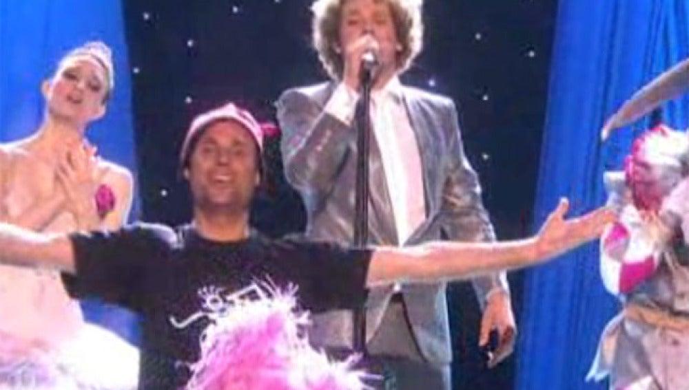 Un espontáneo en Eurovisión