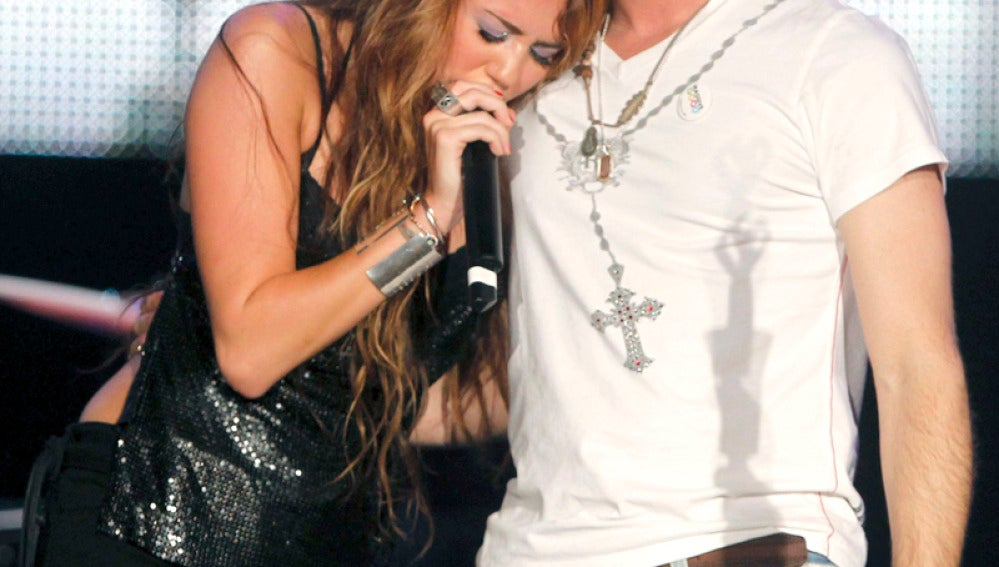 Miley con David Bisbal