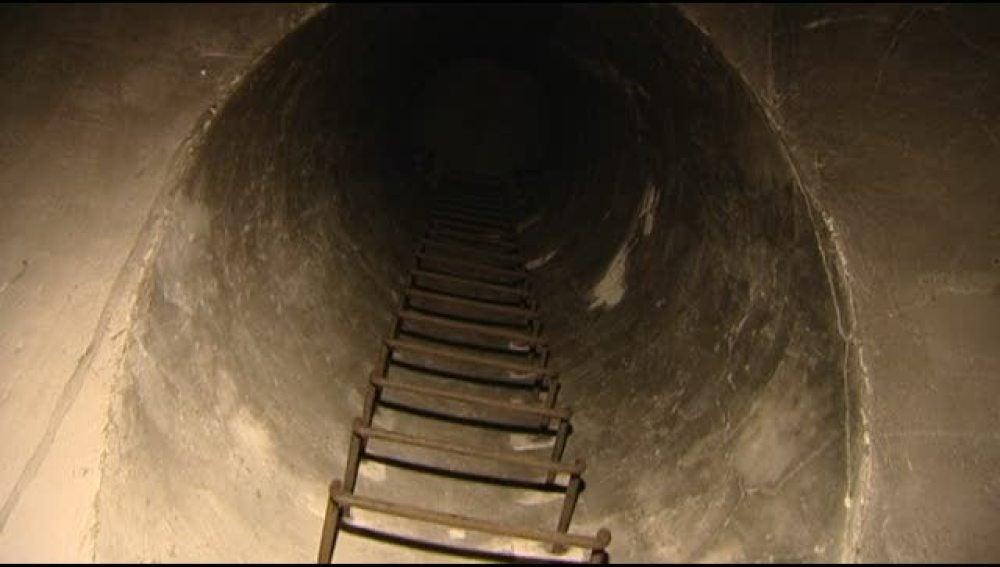 Túneles subterraneos bajo un cuartel de Canarias