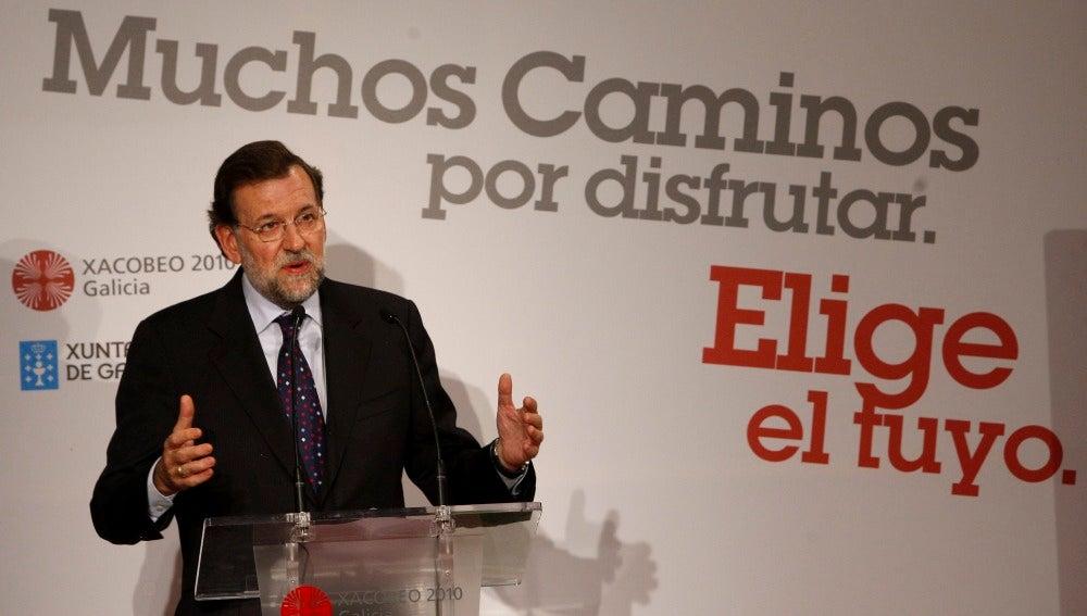 Mariano Rajoy da un mitin