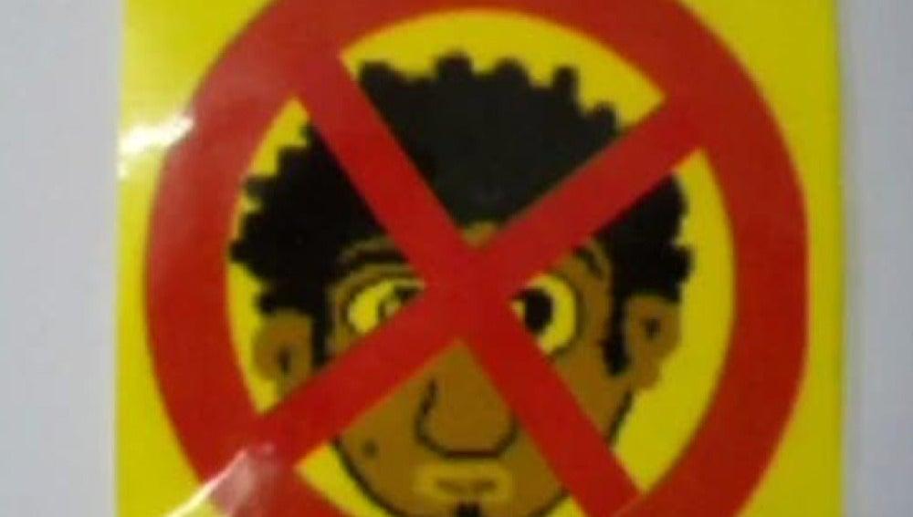 Carteles racistas en Mallorca