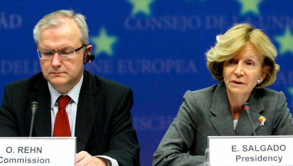 Elena Salgado y Olli Rehn