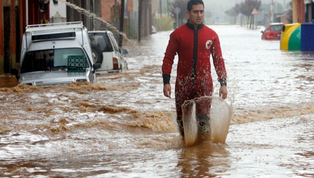 Las lluvias en Asturias se ceban con Villaviciosa