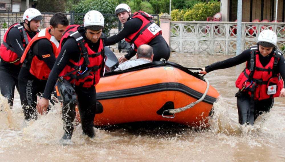 Rescate por las lluvias en Cantabria