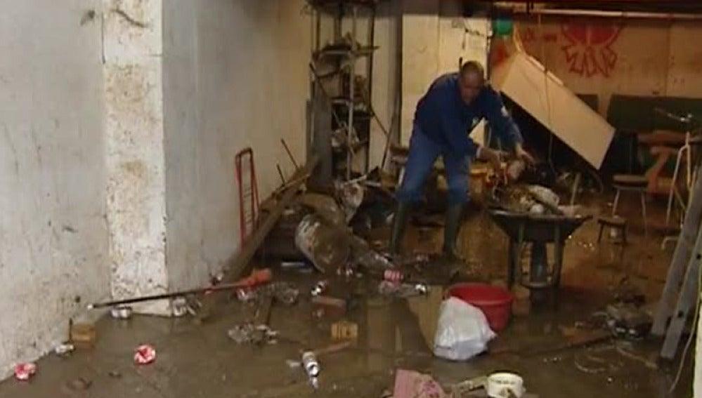 Los efectos de las riadas se notan en Vizcaya