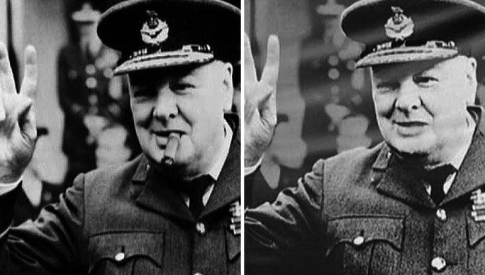 Churchill, retocado con Photoshop