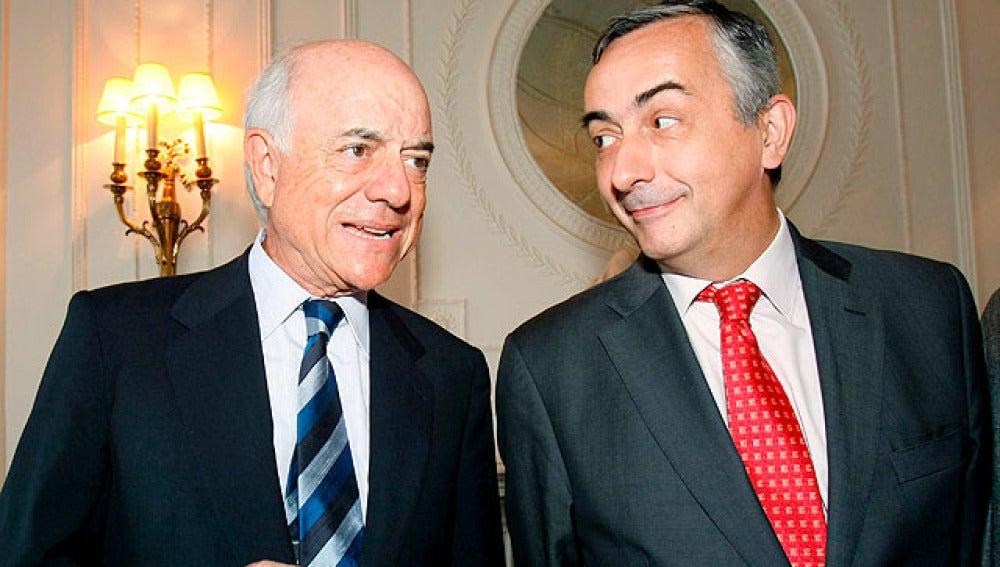 Ocaña, juntOcaña, junto al presidente del BBVAo al presidente del BBVA