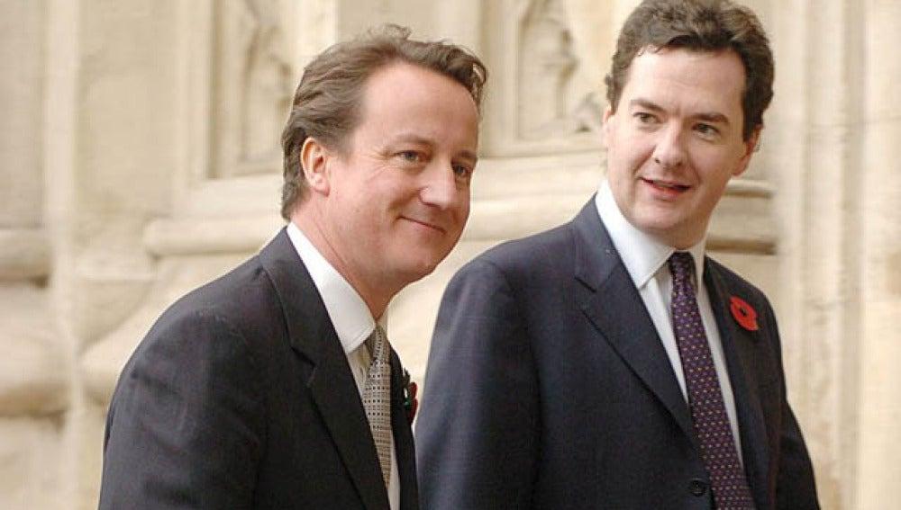 Cameron y su ministro de Economía, Osborne