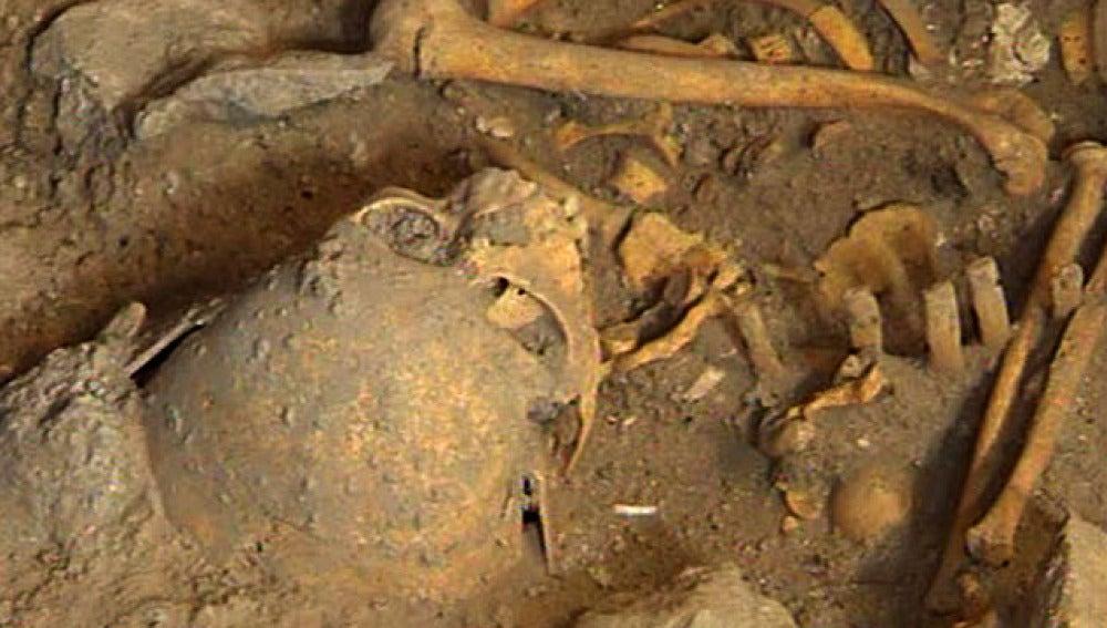 Cuerpo de la Edad de Bronce hallado en Atapuerca