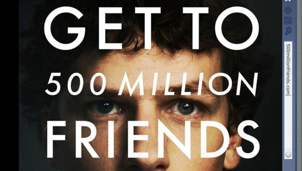 Cartel de la película sobre Facebook