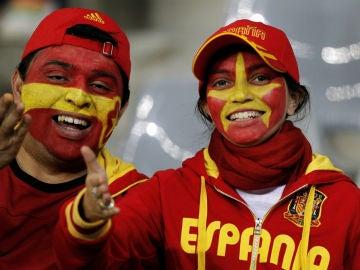 Dos aficionados españoles
