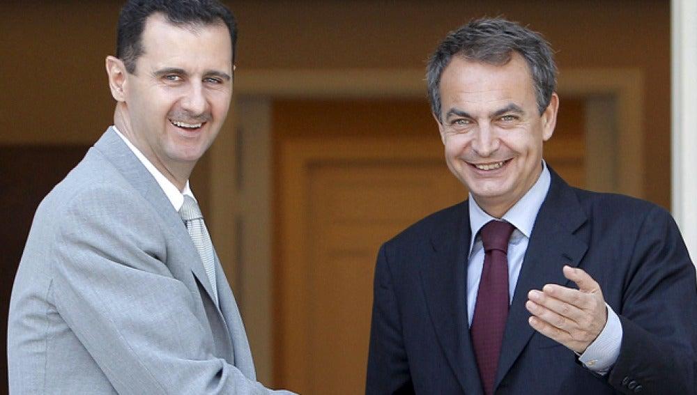 Zapatero con el presidente sirio