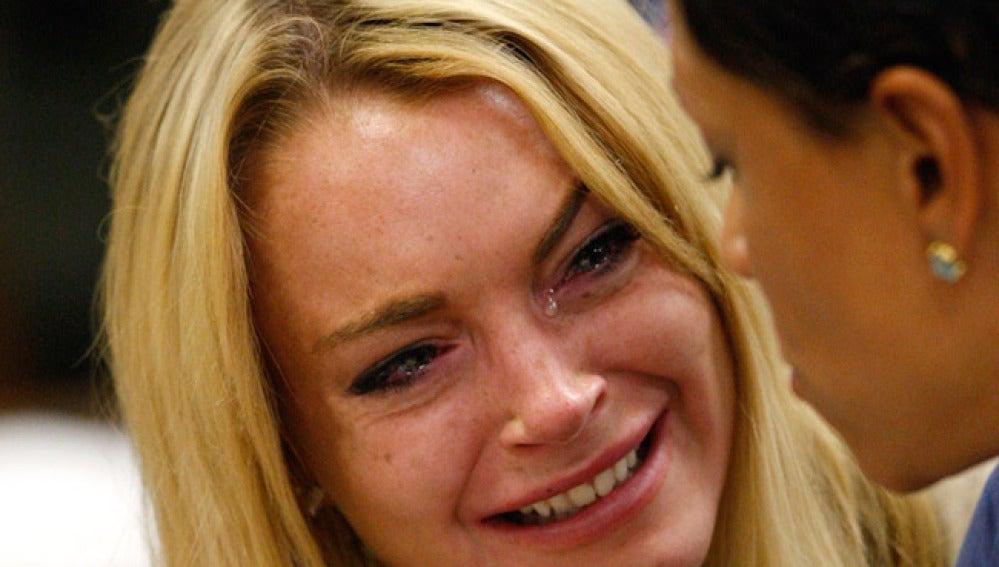 Lindsay Lohan durante el juicio